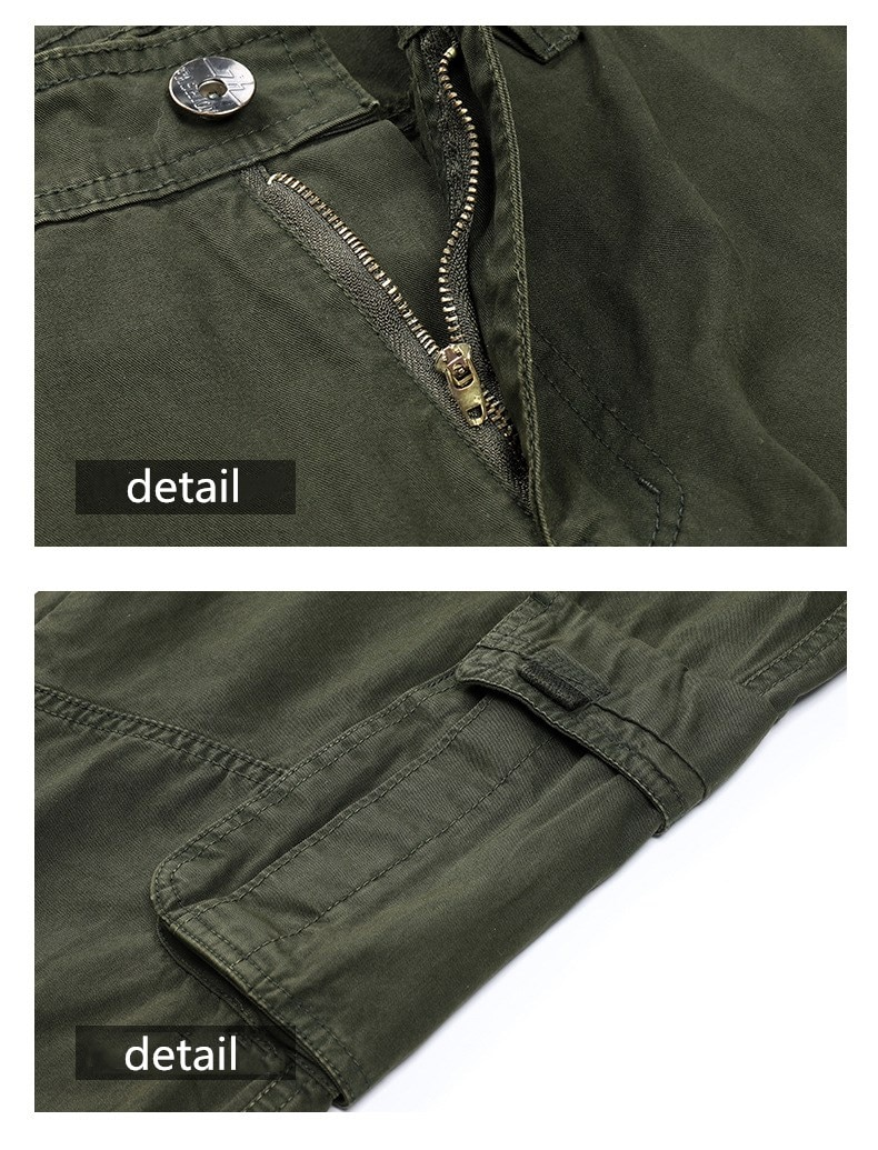High Quality Khaki Casual Pants Men Military Tactical  Cargo Pants Multi-Pocket Fashions Black Army Trousers
