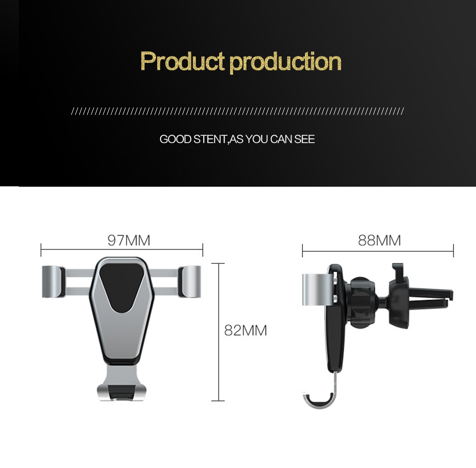 Universal Gravity Car Bracket Mobile Phone Holder Car Air Vent Mount Tripod For Phone Accessories